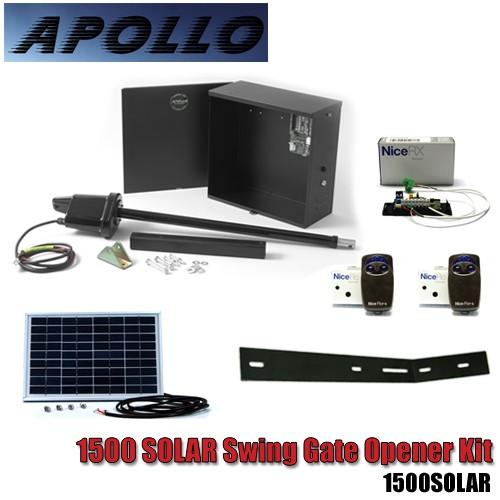 Apollo solar swing gate opener kit
