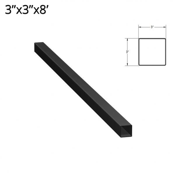 Iron Fence Post - 3-inchx3-inchx8-foot