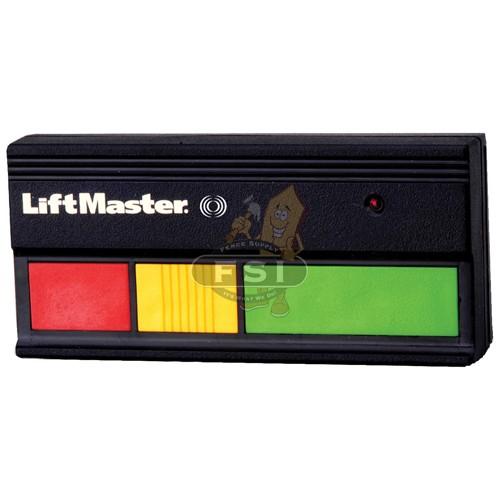 LiftMaster 33LM tri colored actuator, three button remote control