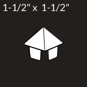 1-1/2-inch x 1-1/2-inch Vinyl Picket Cap - Pyramid - White