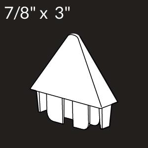 7/8-inch x 3-inch Vinyl Picket Cap - Pointed - White