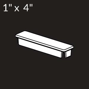 1-inch x 4-inch Vinyl Rail Cap - White