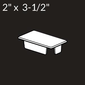 2-inch x 3-1/2-inch Vinyl Rail Cap - White