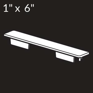 1-inch x 6-inch Vinyl Rail Cap - White