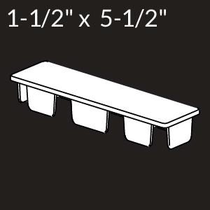 1-1/2-inch x 5-1/2-inch Vinyl Rail Cap - White