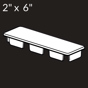 2-inch x 6-inch Vinyl Rail Cap- Internal - White