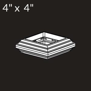 4-inch x 4-inch Vinyl Post Knuckle - White