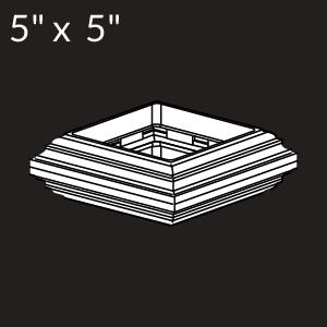 5-inch x 5-inch Vinyl Post Knuckle - White