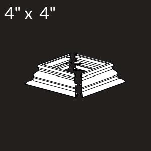 4-inch x 4-inch Vinyl Post Skirt - Federation - White