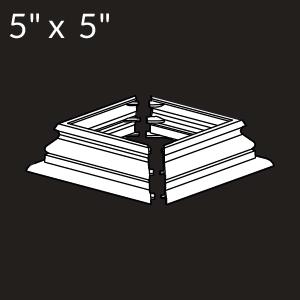 5-inch x 5-inch Vinyl Post Skirt - Federation - White