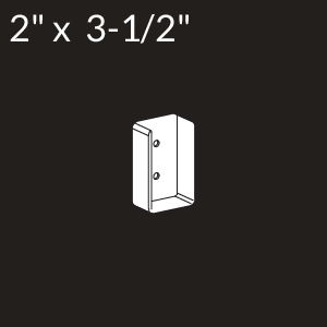 2-inch x 3-1/2-inch Vinyl Rail Mount - White