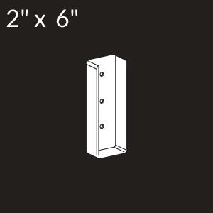 2-inch x 6-inch Vinyl Rail Mount - White