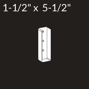 1-1/2-inch x 5-1/2-inch Vinyl Rail Mount - White