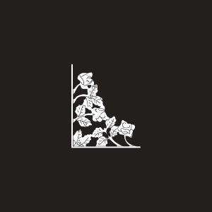 Vinyl Rose Scroll Insert - Small - White