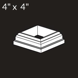 4-inch x 4-inch Vinyl Post Skirt - New England - White