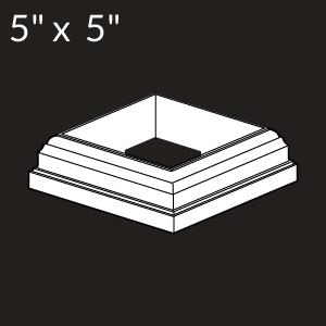 5-inch x 5-inch Vinyl Post Skirt - New England - White