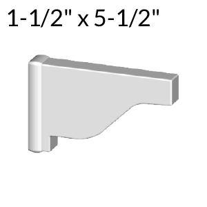 1-1/2-inch x 5-1/2-inch Vinyl Pergola End Cap - External - White