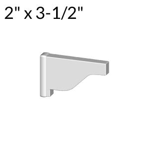 2-inch x 3-1/2-inch Vinyl Pergola End Cap - External - White