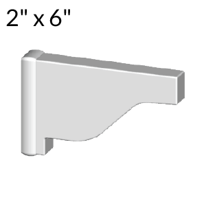 2-inch x 6-inch Vinyl Pergola End Cap - External - White
