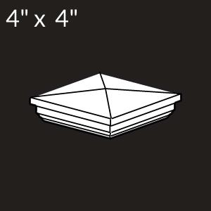 4-inch x 4-inch Vinyl Post Cap - New England - White