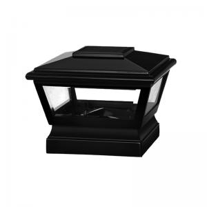 4-inch x 4-inch Solar Post Cap Light - Large - Black