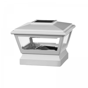 4 x 4-inch Solar Post Cap Light - Large - White