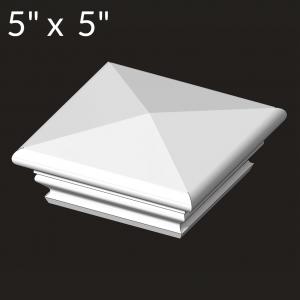 5-inch x 5-inch Vinyl Post Cap - Federation - White