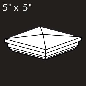 5-inch x 5-inch Vinyl Post Cap - New England - White
