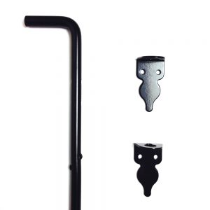 48-inch Gate Cane Bolt - Steel - Black