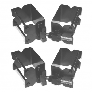 Gate Hinge Set - Commercial - Stainless Steel - Black
