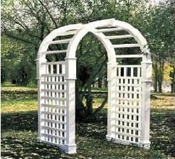 Vinyl Arbor Gate - Drake - White