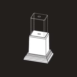 Vinyl Foot Block Support Kit - White