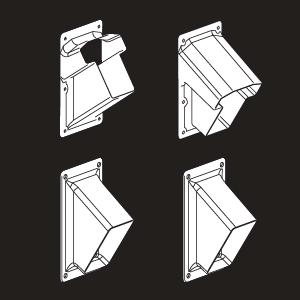 Vinyl Handrail Bracket Kit for Stairs - White