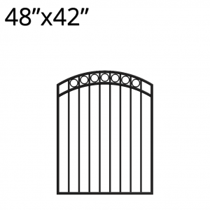 Iron Gate - Arched - 48-inchx42-inch - Denali