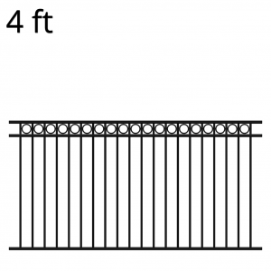 Iron Fence Panel - 48-inch x 94-inch - Denali