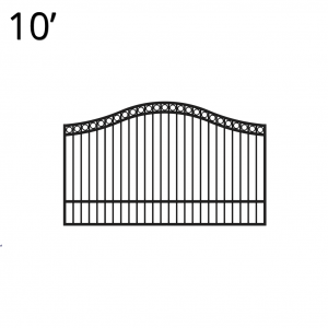 Iron Estate Gate - 60-inchx10-foot Single - Denali