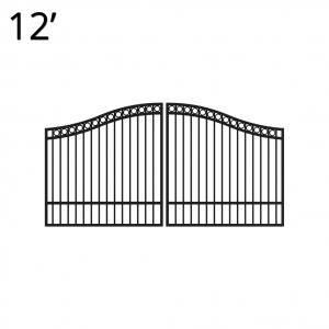 Iron Estate Gate - 60-inchx12-foot Double - Denali