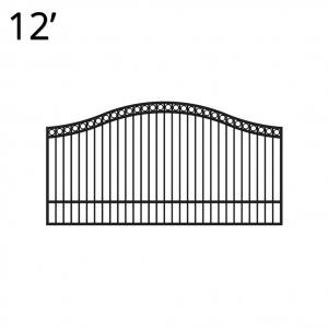 Iron Estate Gate - 60-inchx12-foot Single - Denali