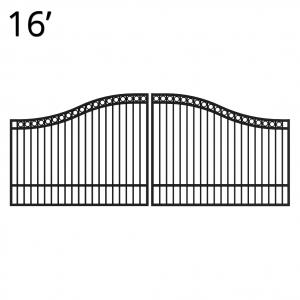Iron Estate Gate - 60-inchx16-foot Double - Denali