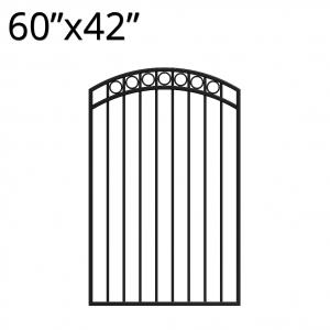 Iron Gate - Arched - 60-inchx42-inch - Denali