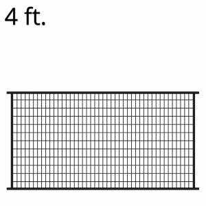 Iron Fence Panel – 48-inchx94-inch – Metro