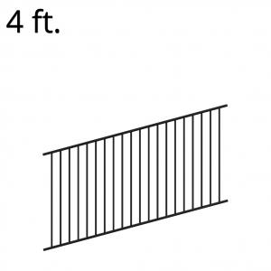 Iron Fence Panel - Rake - 48-inchx94-inch - Yukon