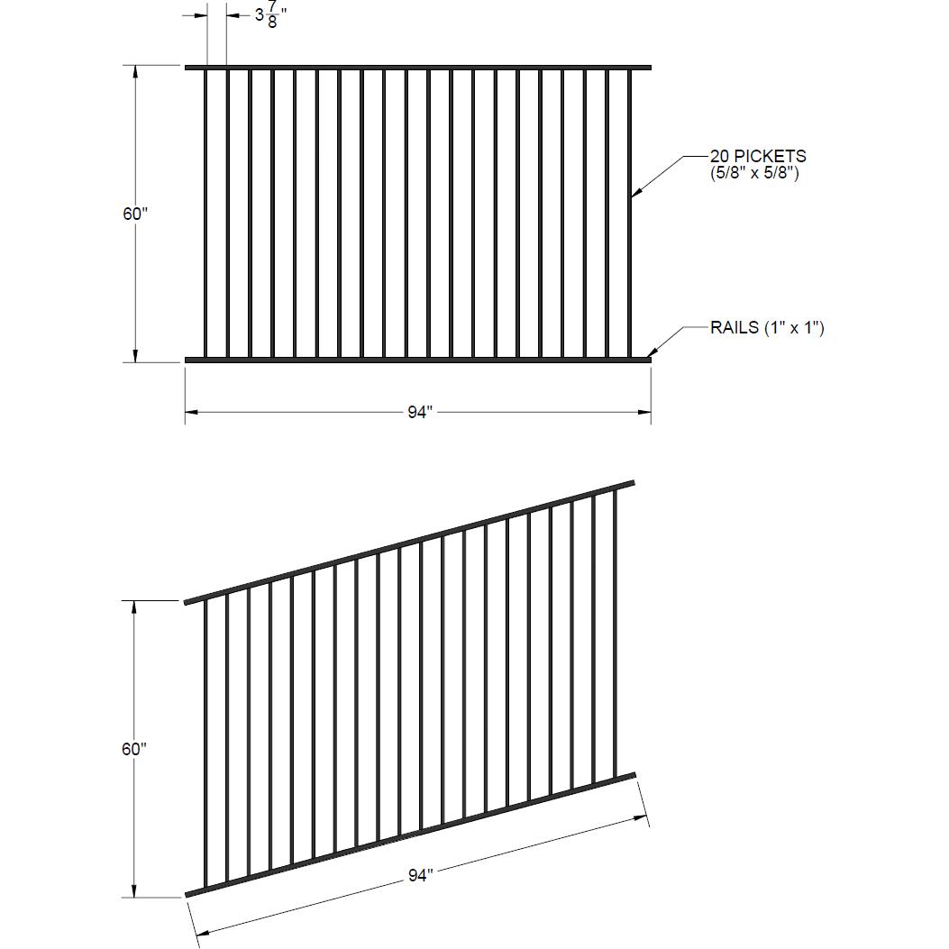 Fence Panel Diagram Wiring Diagrams Electric Schematic On For Iron Rake 60u2033 X 94u2033 Yukon Circuit