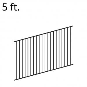 Iron Fence Panel - Rake - 60-inchx94-inch - Yukon