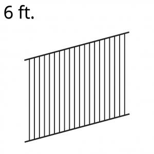 Iron Fence Panel - Rake - 72-inchx94-inch - Yukon