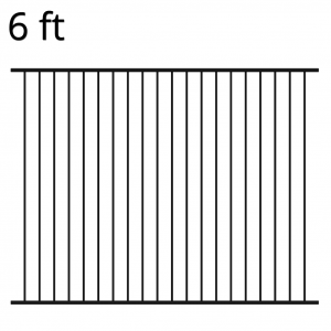 Iron Fence Panel - 72-inch x 94-inch - Ranger