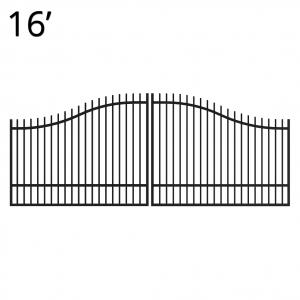Iron Estate Gate - 60-inchx16-foot Double - Regal