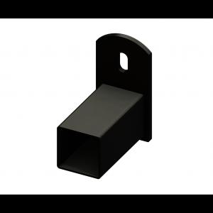 Iron Fence Panel Mounting Bracket - for 1-1/2-inchx1-1/2-inch Rails