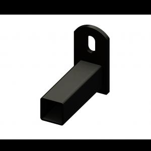 Iron Fence Panel Mounting Bracket - for 1-inchx1-inch Rails