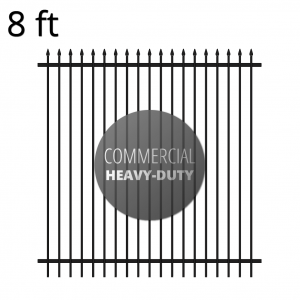 Iron Fence Panel - Commercial - 96-inch x 94-inch - Summit